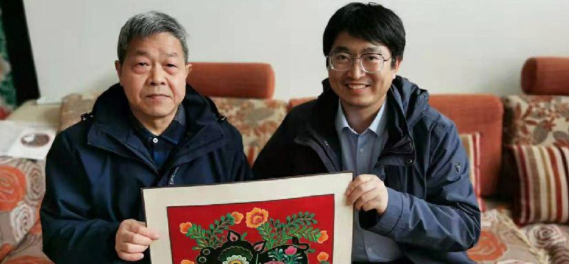 王晶律师拜访陕西剪纸大师郭如林